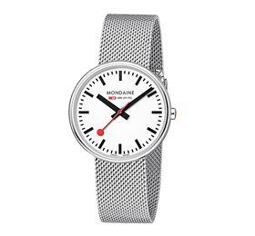 Mondaine Armbanduhr Mineralglas