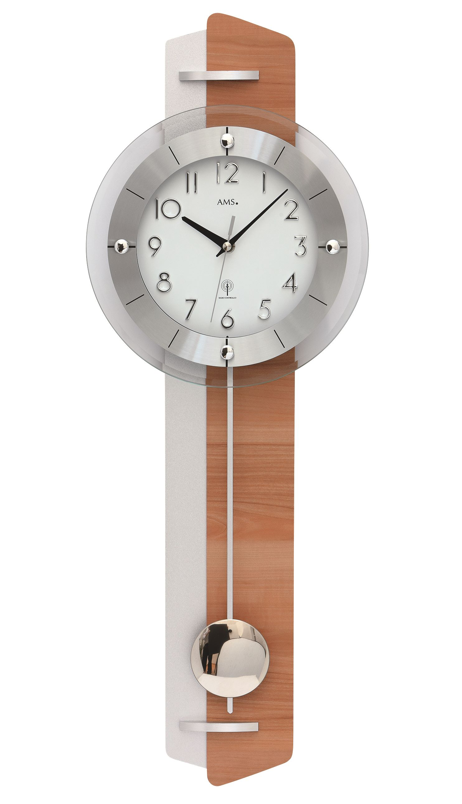 AMS -casilina- 5271 Modern Wall Clock with Funkwerk, Radio ...