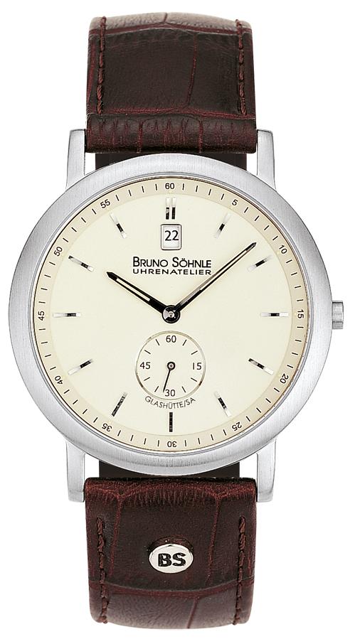 17 Söhnle armbanduhr Leder Quarz Herren Prato 13036 221 Analog Bruno POkiZuX