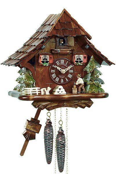 Kuckucksuhr von Engstler - Modell Schwarzwaldhaus
