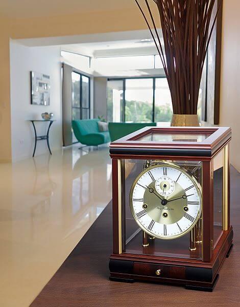 Hermle 22998 070352 moderne tischuhr mit mechanischem for Kaminuhr modern