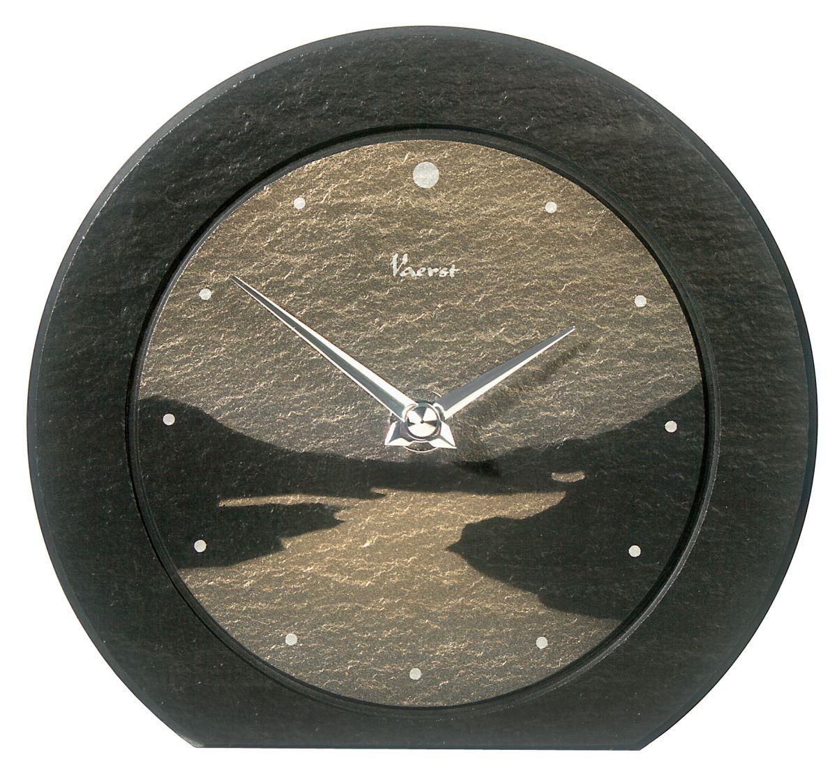 vaerst fjord 2667 moderne tischuhr mit quartzwerk batteriebetrieben modern ebay. Black Bedroom Furniture Sets. Home Design Ideas