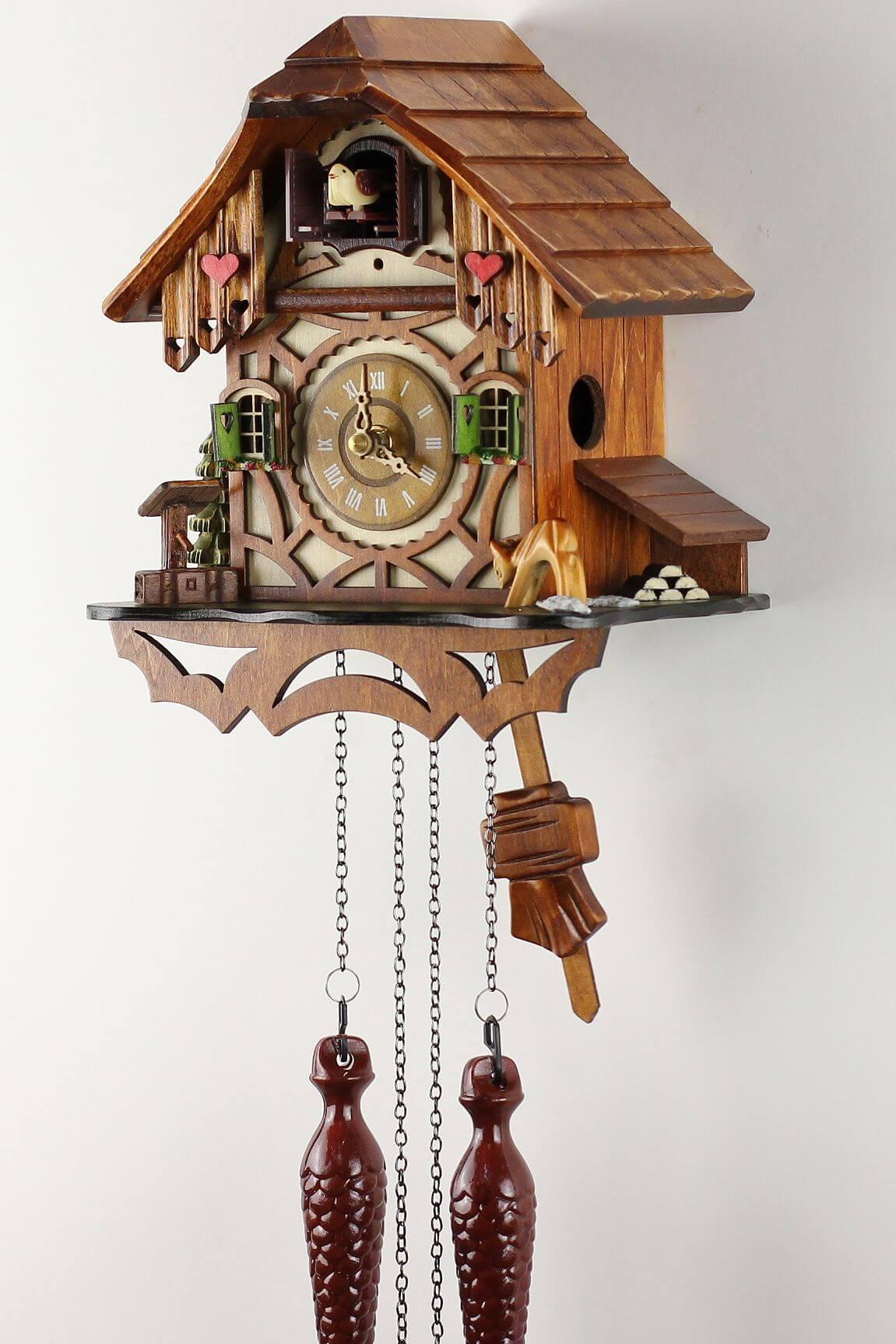 Eble fachwerkhaus 24cm coucou pendule bois v ritable for Fachwerkhaus definition