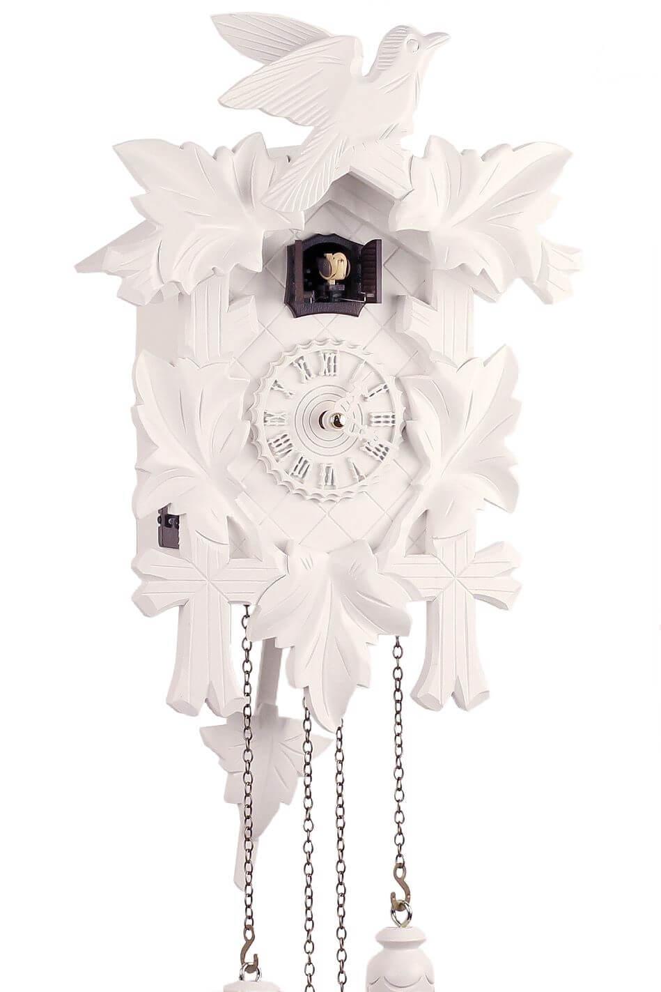 trenkle bianca 34cm 350 20 q weiss schwarzw lder kuckucksuhr aus echtholz mit ebay. Black Bedroom Furniture Sets. Home Design Ideas